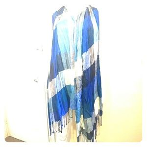 Accessories - Checked color block tassel scarf Sz OS